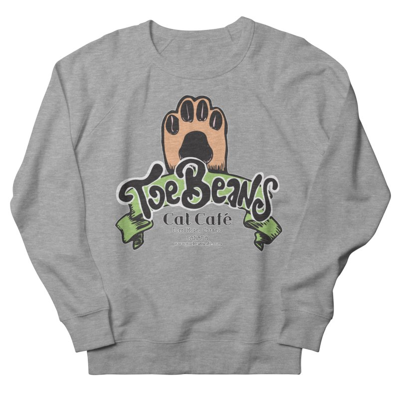 Toe Beans Cat Cafe Original Logo Women's French Terry Sweatshirt by Toe Beans Cat Cafe Online Shop
