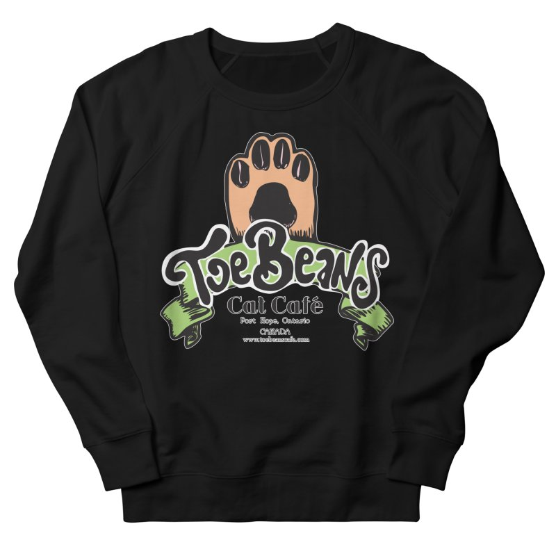 Toe Beans Cat Cafe Original Logo Men's French Terry Sweatshirt by Toe Beans Cat Cafe Online Shop