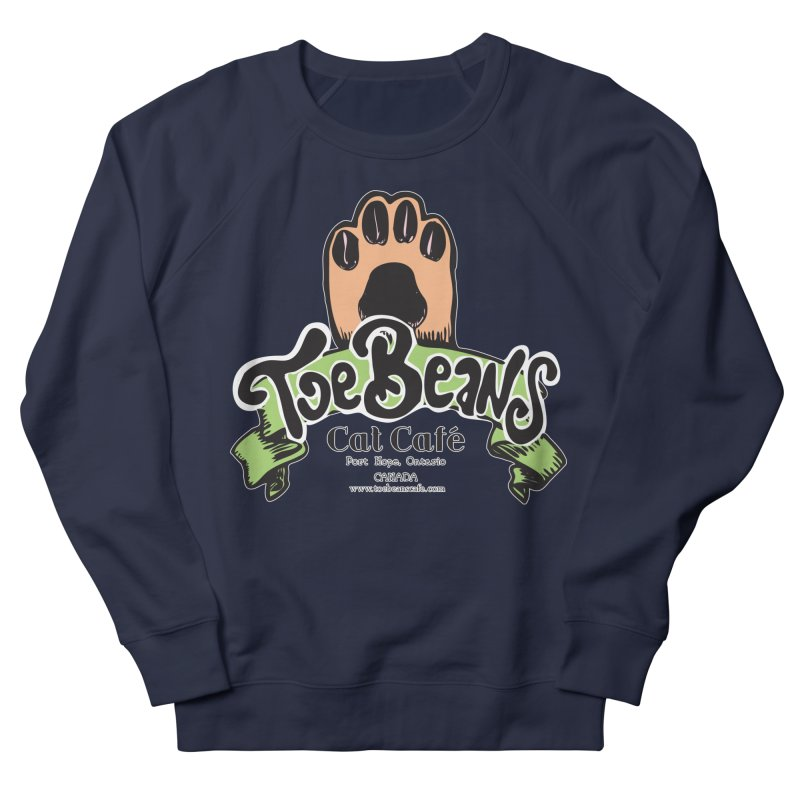 Toe Beans Cat Cafe Original Logo Men's French Terry Sweatshirt by Toe Beans Cat Cafe Online Shop