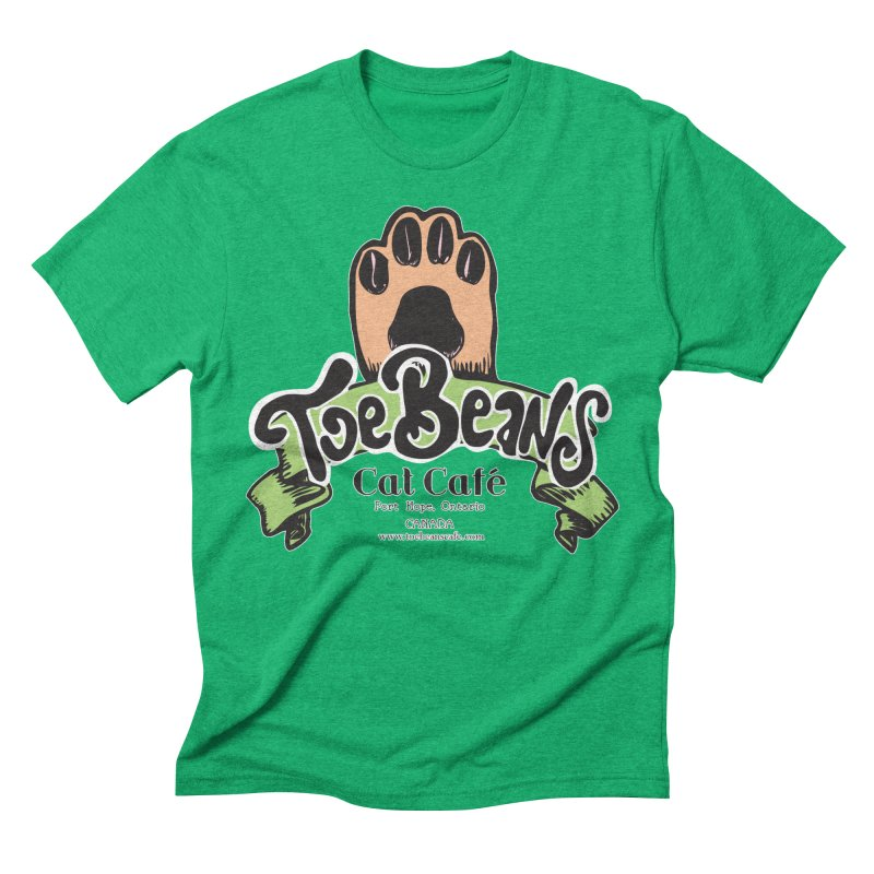 Toe Beans Cat Cafe Original Logo Men's Triblend T-Shirt by Toe Beans Cat Cafe Online Shop