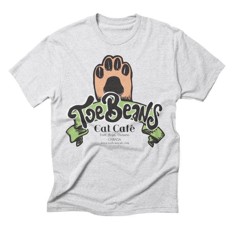 Toe Beans Cat Cafe Original Logo Men's Triblend T-Shirt by Toe Beans Cat Cafe Online Shop
