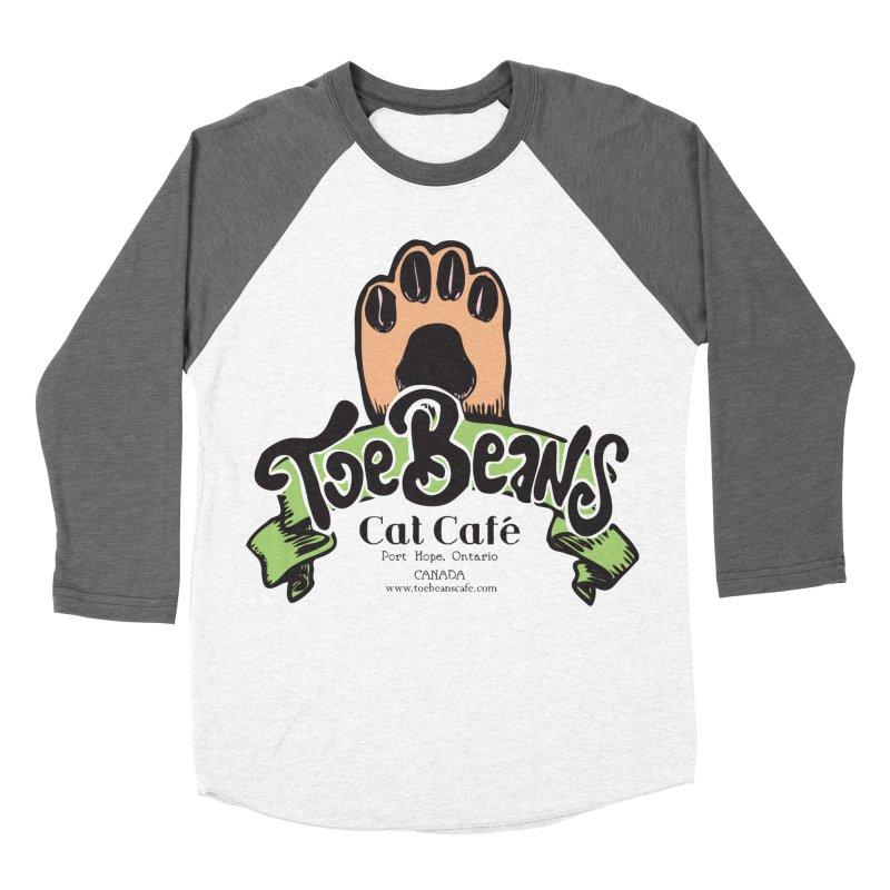Toe Beans Cat Cafe Original Logo Women's Baseball Triblend Longsleeve T-Shirt by Toe Beans Cat Cafe Online Shop