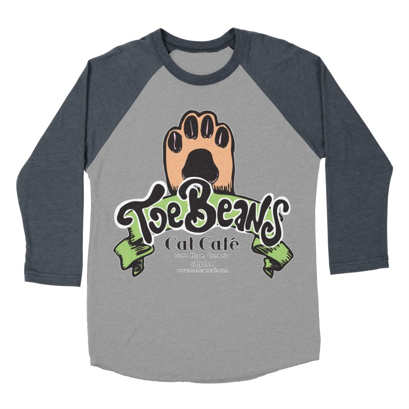 Toe Beans Cat Cafe Original Logo Women's Baseball Triblend T-Shirt by Toe Beans Cat Cafe Online Shop