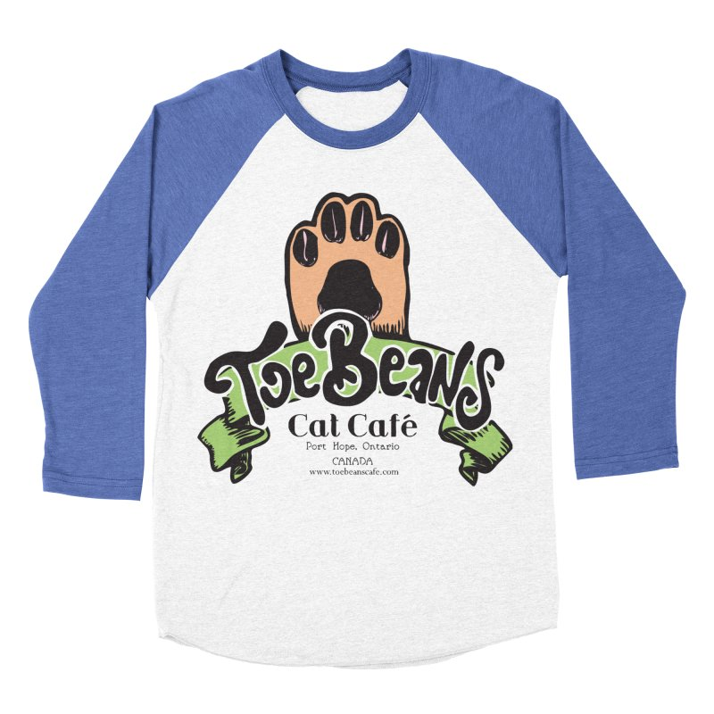 Toe Beans Cat Cafe Original Logo Men's Baseball Triblend Longsleeve T-Shirt by Toe Beans Cat Cafe Online Shop