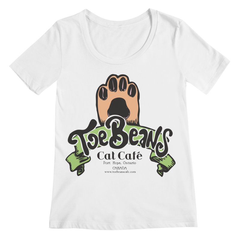 Toe Beans Cat Cafe Original Logo Women's Regular Scoop Neck by Toe Beans Cat Cafe Online Shop