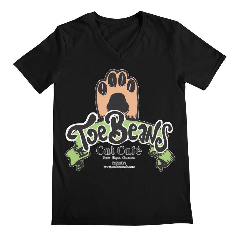 Toe Beans Cat Cafe Original Logo Men's Regular V-Neck by Toe Beans Cat Cafe Online Shop