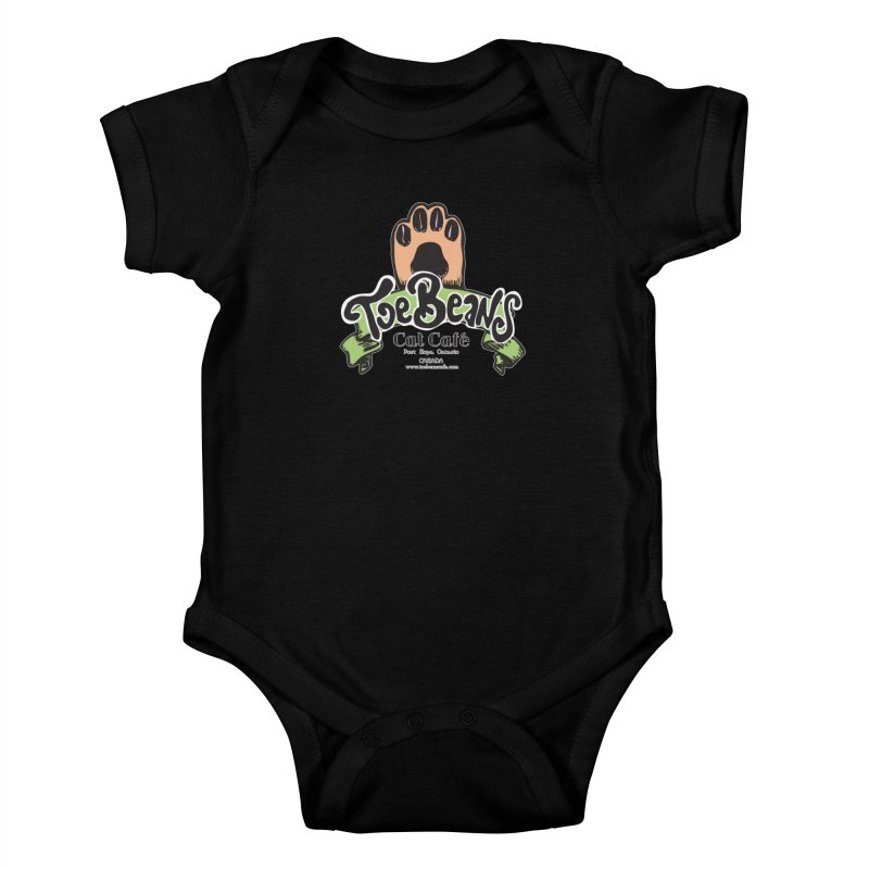 Toe Beans Cat Cafe Original Logo Kids Baby Bodysuit by Toe Beans Cat Cafe Online Shop
