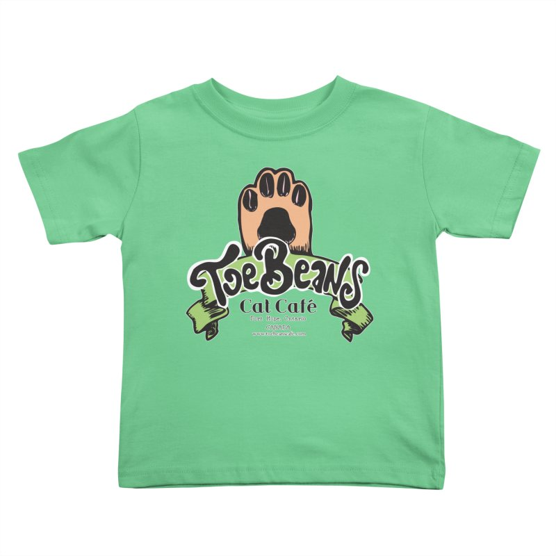 Toe Beans Cat Cafe Original Logo Kids Toddler T-Shirt by Toe Beans Cat Cafe Online Shop
