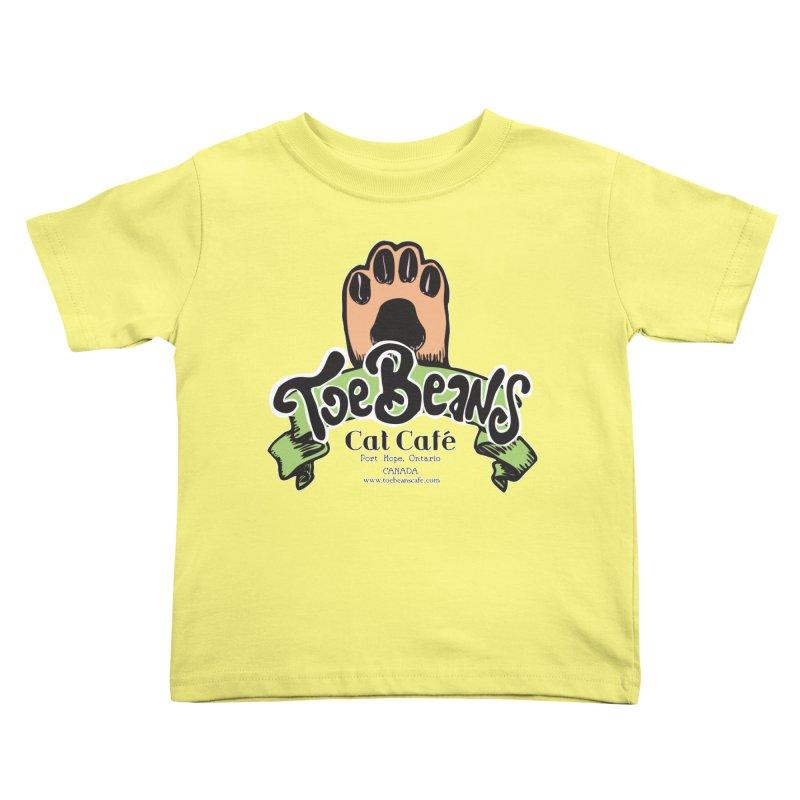 Toe Beans Cat Cafe Original Logo Kids Toddler T-Shirt by Toe Beans Cat Cafe Online Shop
