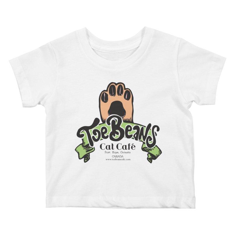 Toe Beans Cat Cafe Original Logo Kids Baby T-Shirt by Toe Beans Cat Cafe Online Shop