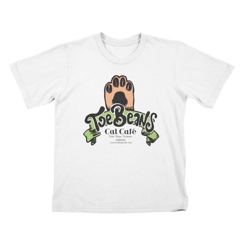 Toe Beans Cat Cafe Original Logo Kids T-Shirt by Toe Beans Cat Cafe Online Shop