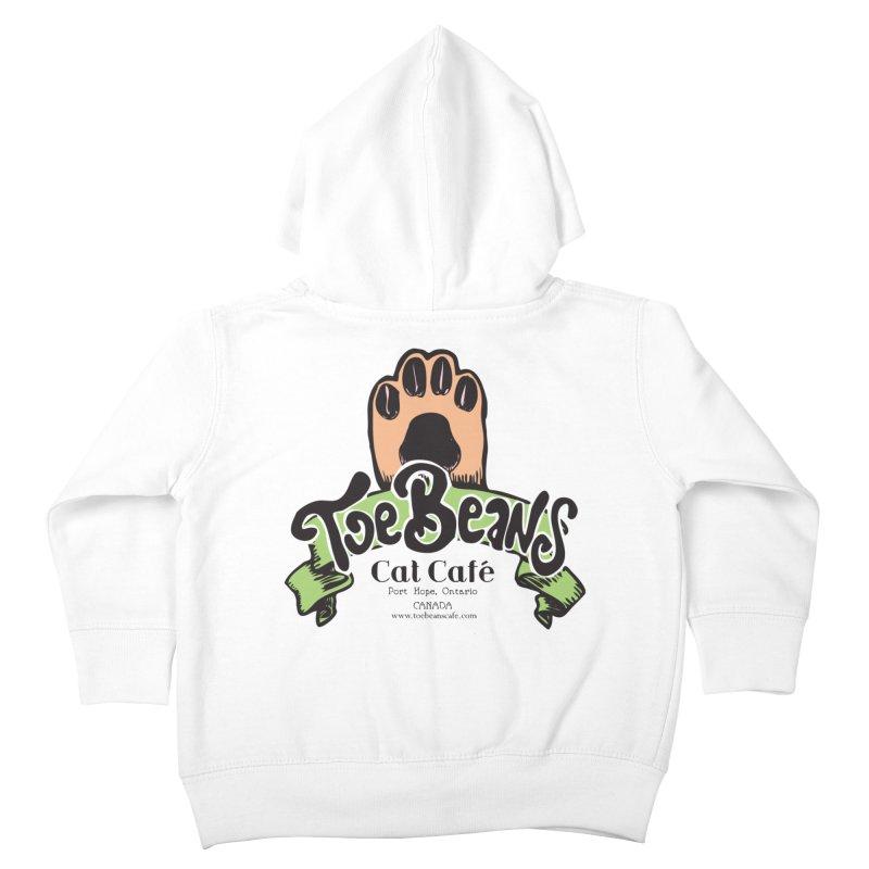 Toe Beans Cat Cafe Original Logo Kids Toddler Zip-Up Hoody by Toe Beans Cat Cafe Online Shop