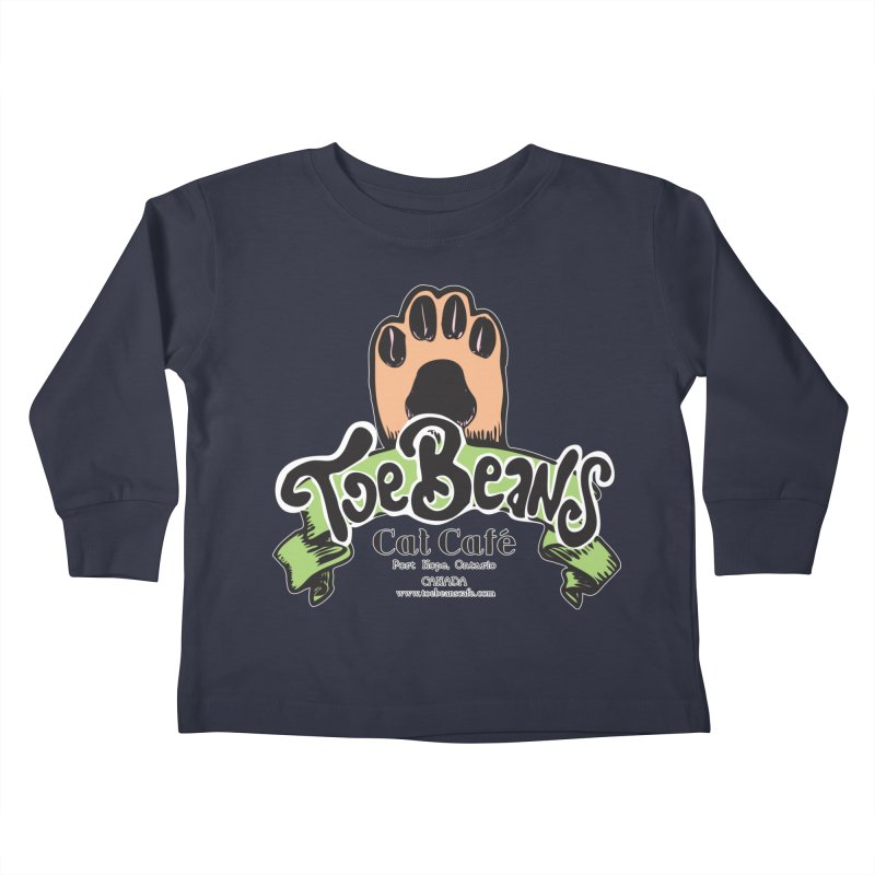 Toe Beans Cat Cafe Original Logo Kids Toddler Longsleeve T-Shirt by Toe Beans Cat Cafe Online Shop