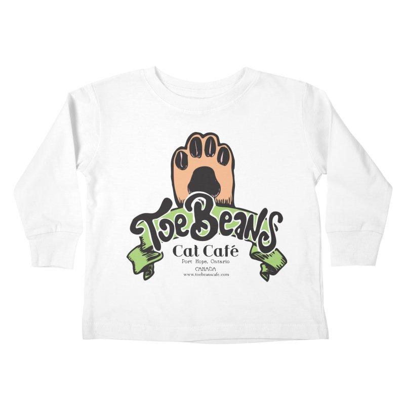 Toe Beans Cat Cafe Original Logo Kids Toddler Longsleeve T-Shirt by Toe Beans Cat Cafe Online Shop