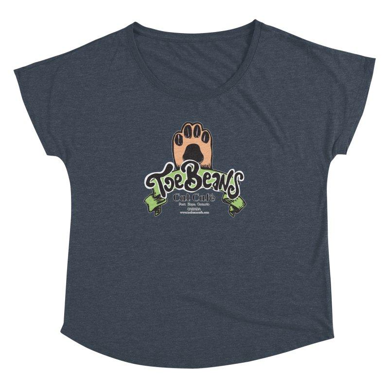 Toe Beans Cat Cafe Original Logo Women's Dolman Scoop Neck by Toe Beans Cat Cafe Online Shop