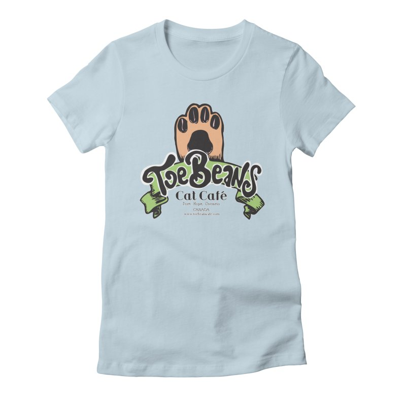Toe Beans Cat Cafe Original Logo Women's Fitted T-Shirt by Toe Beans Cat Cafe Online Shop