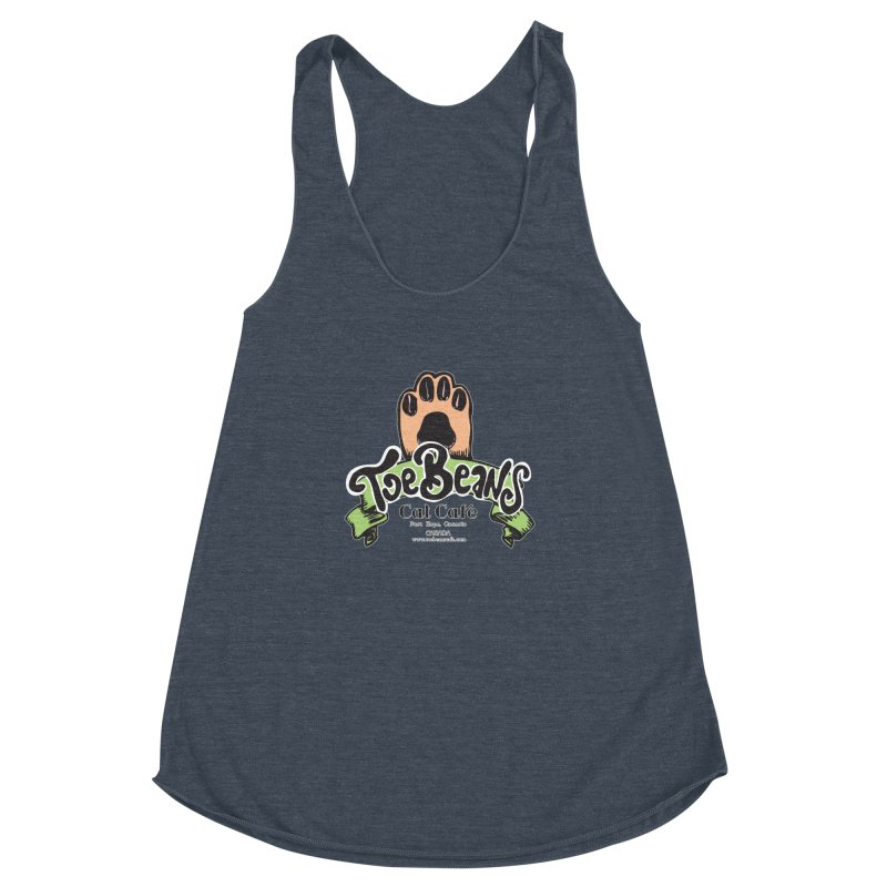Toe Beans Cat Cafe Original Logo Women's Racerback Triblend Tank by Toe Beans Cat Cafe Online Shop