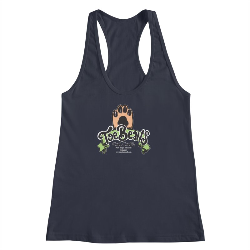 Toe Beans Cat Cafe Original Logo Women's Racerback Tank by Toe Beans Cat Cafe Online Shop