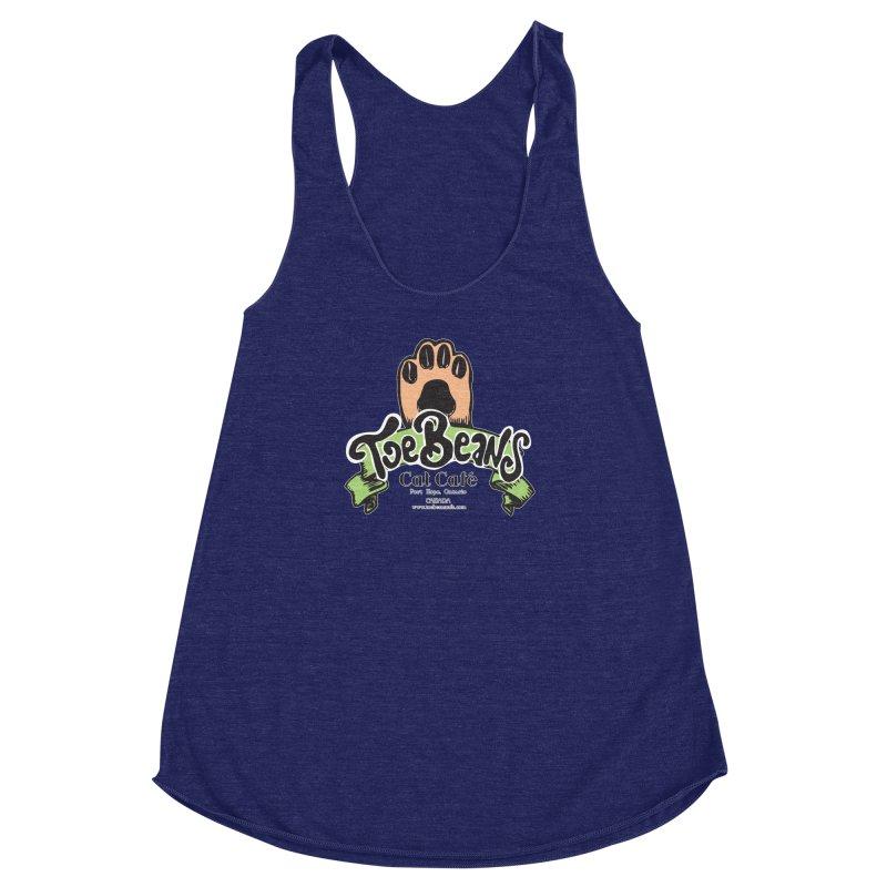 Toe Beans Cat Cafe Original Logo Women's Racerback Triblend Tank by Toe Beans Cat Cafe Online Shop