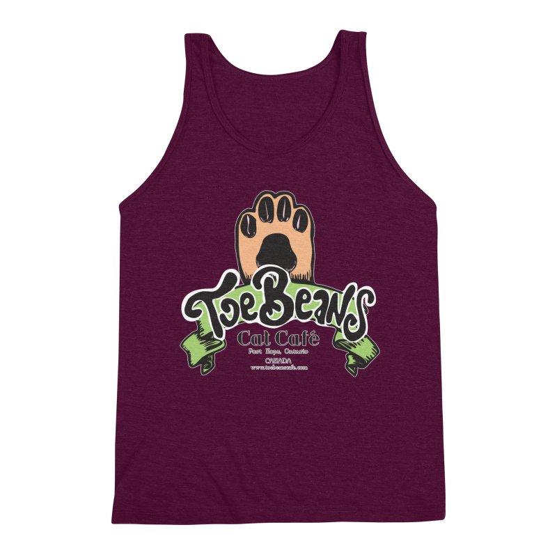 Toe Beans Cat Cafe Original Logo Men's Triblend Tank by Toe Beans Cat Cafe Online Shop
