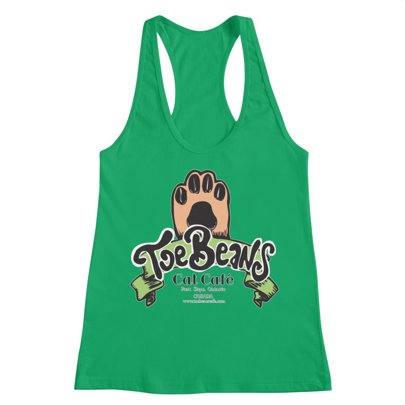 Toe Beans Cat Cafe Original Logo Women's Racerback Tank by Toe Beans Cat Cafe Online Shop