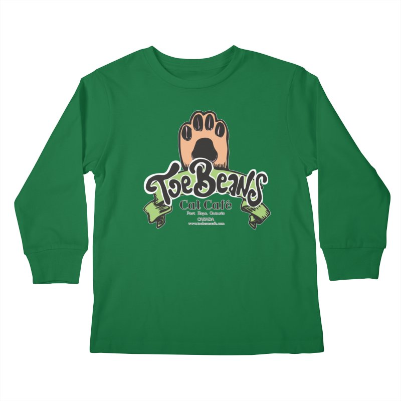 Toe Beans Cat Cafe Original Logo Kids Longsleeve T-Shirt by Toe Beans Cat Cafe Online Shop