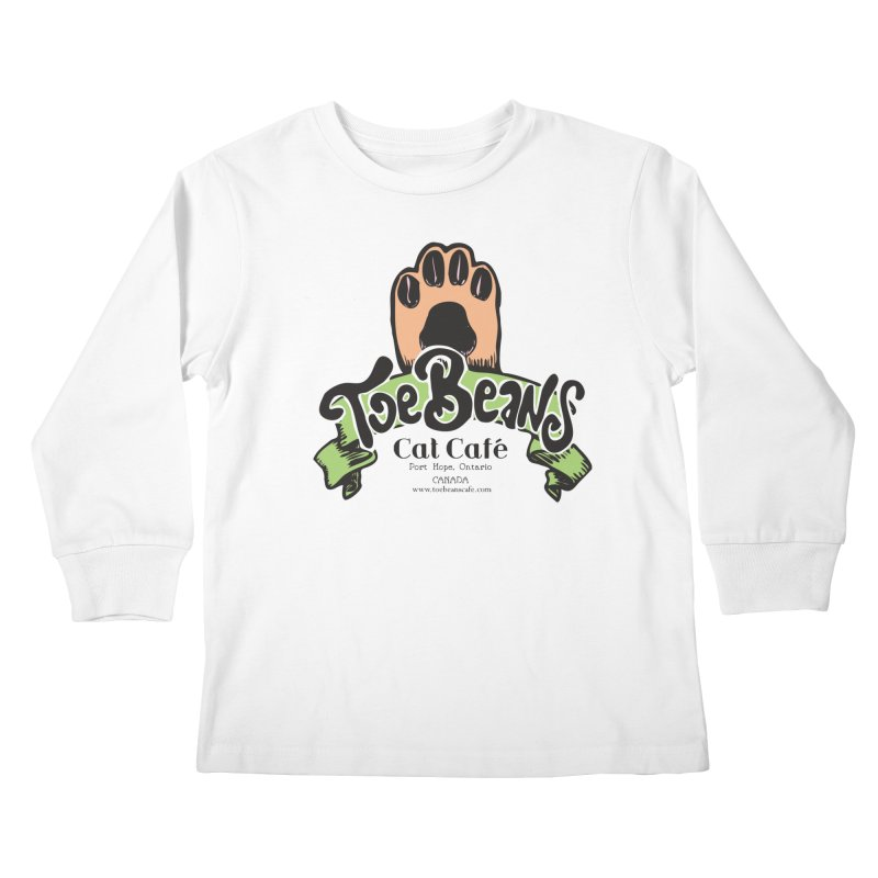 Toe Beans Cat Cafe Original Logo Kids Longsleeve T-Shirt by Toe Beans Cat Cafe Online Shop