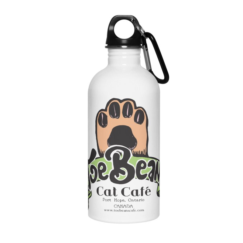 Toe Beans Cat Cafe Original Logo Accessories Water Bottle by Toe Beans Cat Cafe Online Shop