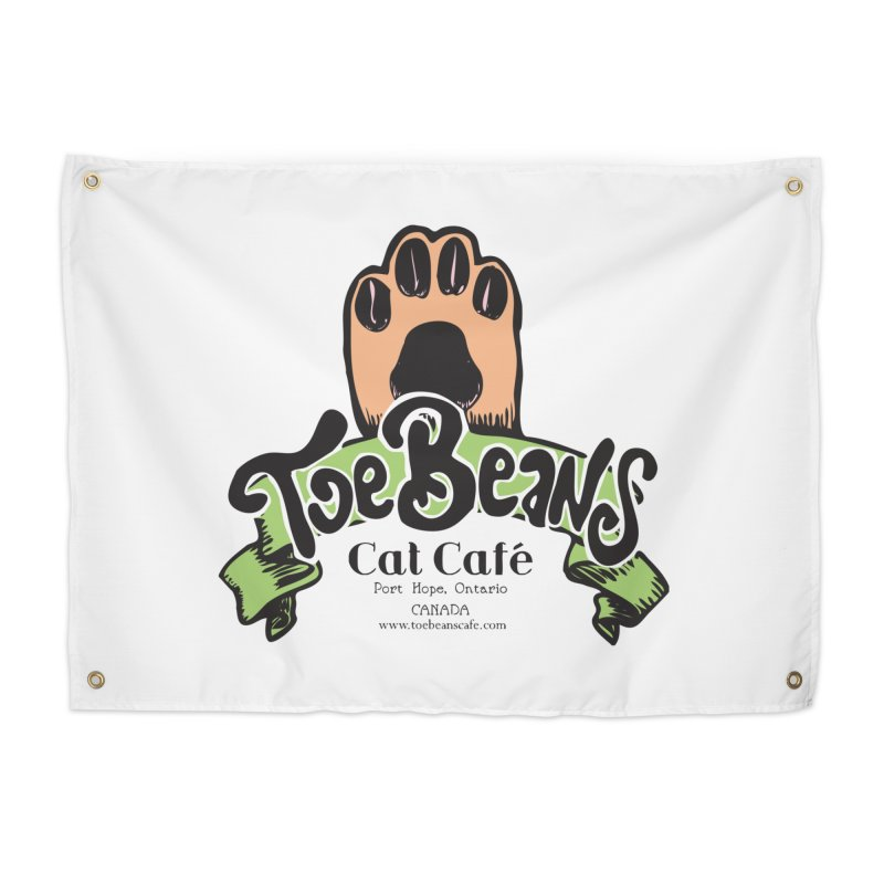Toe Beans Cat Cafe Original Logo Home Tapestry by Toe Beans Cat Cafe Online Shop