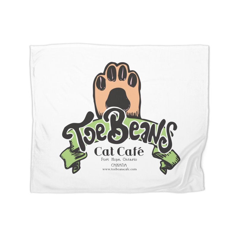 Toe Beans Cat Cafe Original Logo Home Fleece Blanket Blanket by Toe Beans Cat Cafe Online Shop