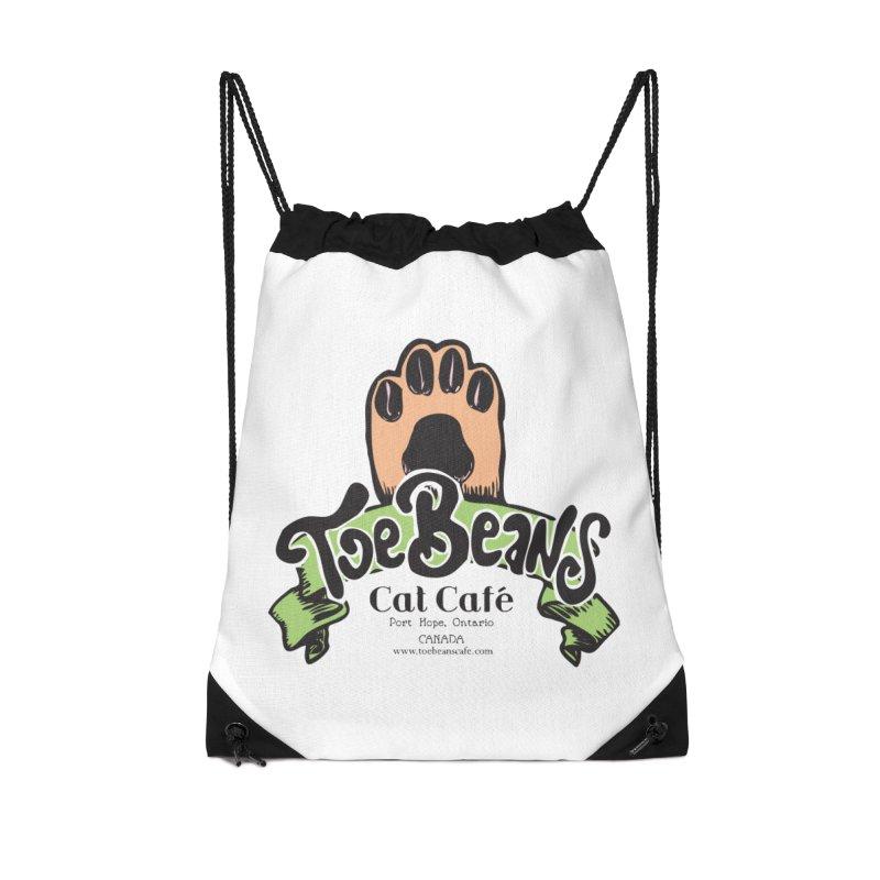 Toe Beans Cat Cafe Original Logo Accessories Drawstring Bag Bag by Toe Beans Cat Cafe Online Shop