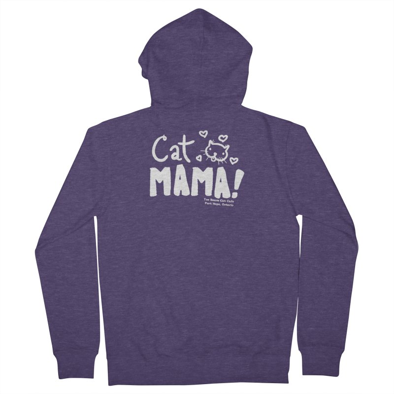 Cat Mama! Men's Zip-Up Hoody by Toe Beans Cat Cafe Online Shop