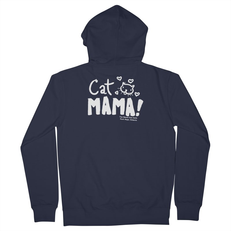 Cat Mama! Men's French Terry Zip-Up Hoody by Toe Beans Cat Cafe Online Shop