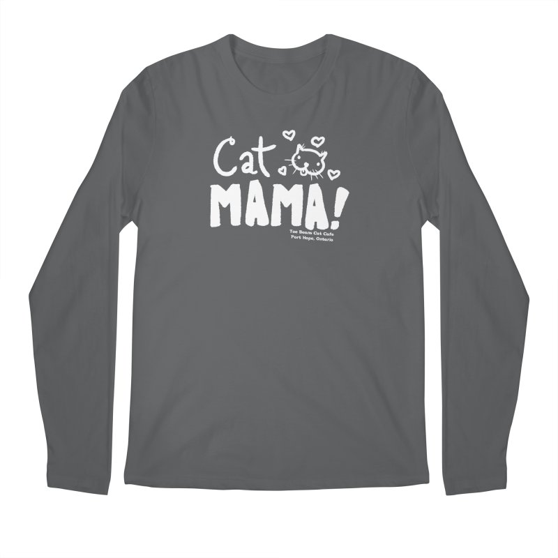 Cat Mama! Men's Longsleeve T-Shirt by Toe Beans Cat Cafe Online Shop