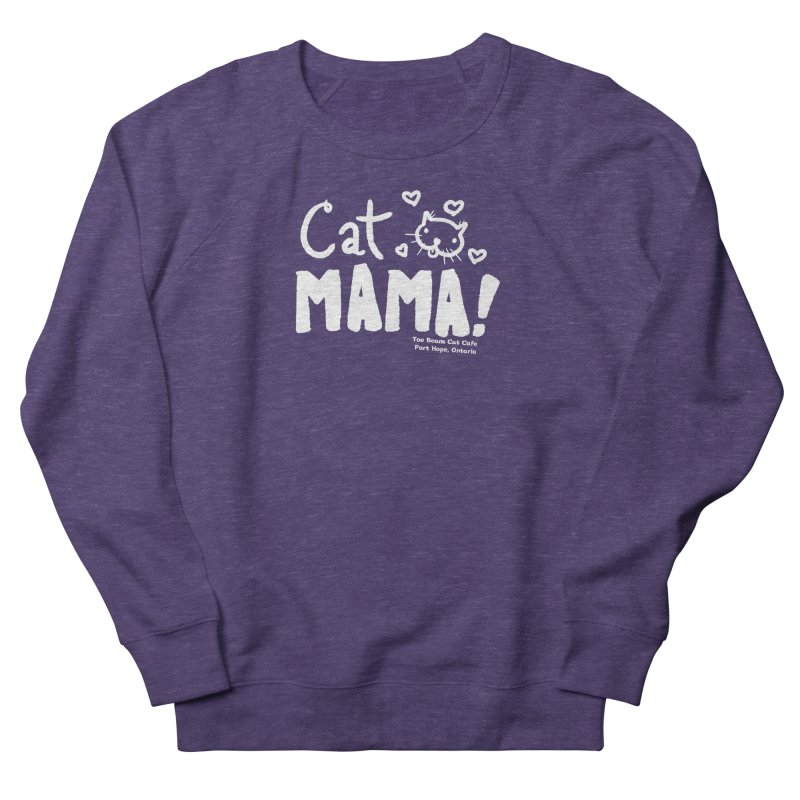 Cat Mama! Men's French Terry Sweatshirt by Toe Beans Cat Cafe Online Shop