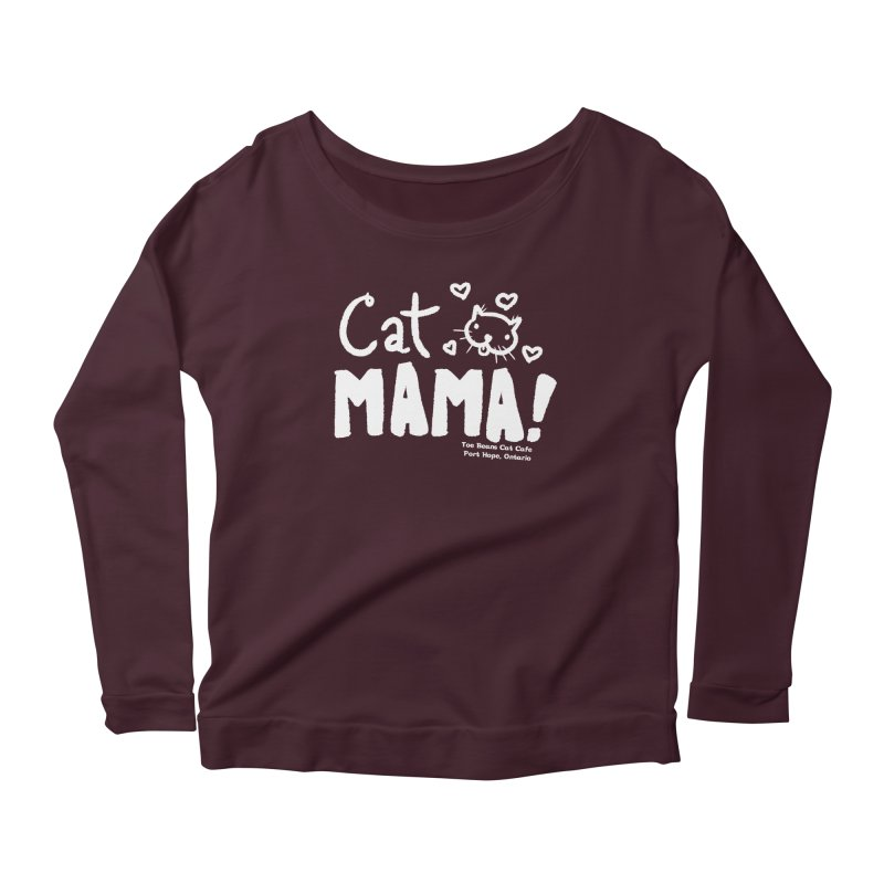 Cat Mama! Women's Longsleeve T-Shirt by Toe Beans Cat Cafe Online Shop