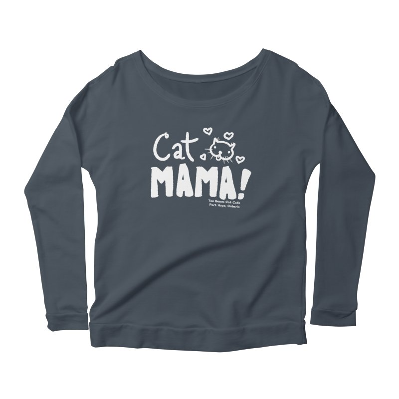 Cat Mama! Women's Longsleeve T-Shirt by Toe Beans Cat Cafe Online Shop