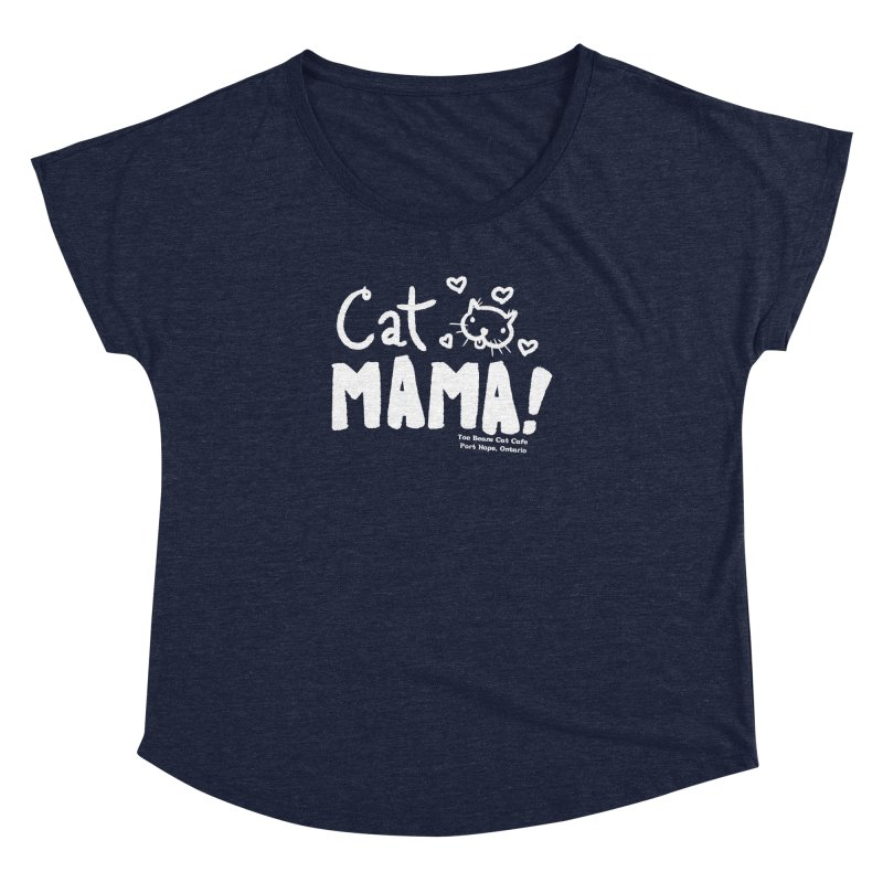 Cat Mama! Women's Scoop Neck by Toe Beans Cat Cafe Online Shop