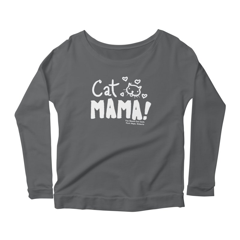 Cat Mama! Women's Scoop Neck Longsleeve T-Shirt by Toe Beans Cat Cafe Online Shop