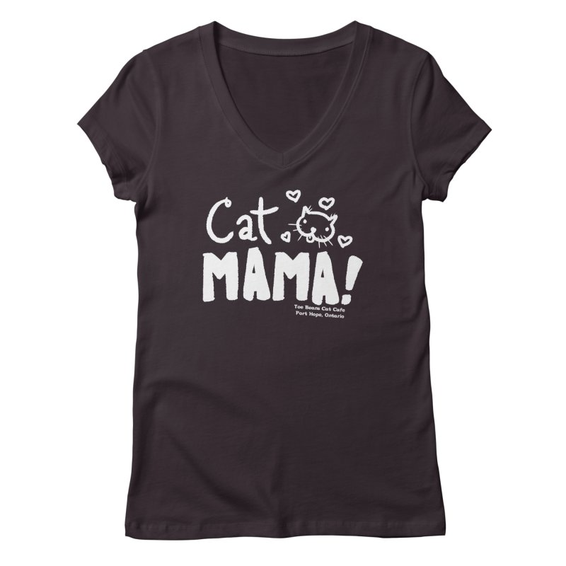 Cat Mama! Women's V-Neck by Toe Beans Cat Cafe Online Shop