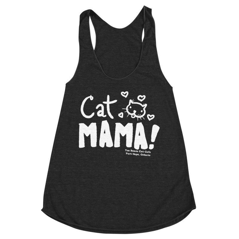 Cat Mama! Women's Racerback Triblend Tank by Toe Beans Cat Cafe Online Shop