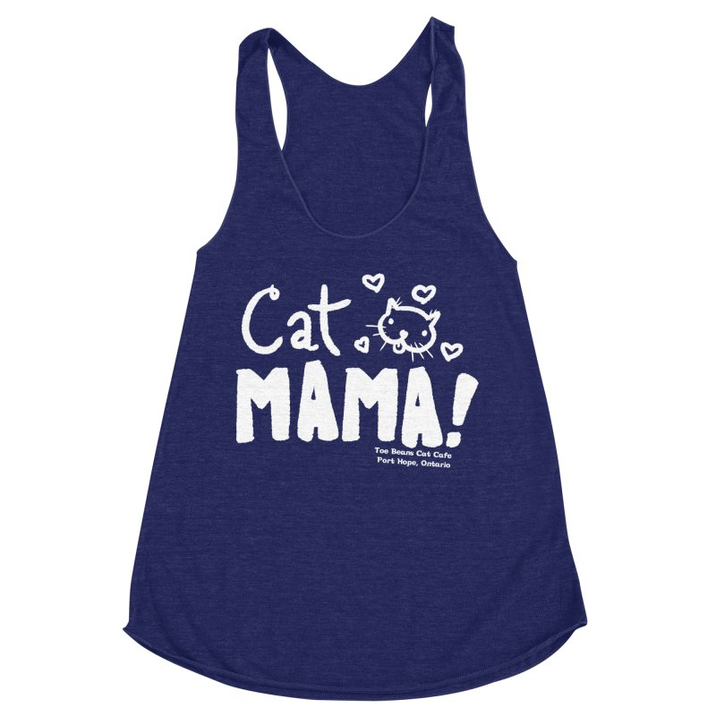 Cat Mama! Women's Racerback Triblend Tank by Toe Beans Cat Cafe Online Shop