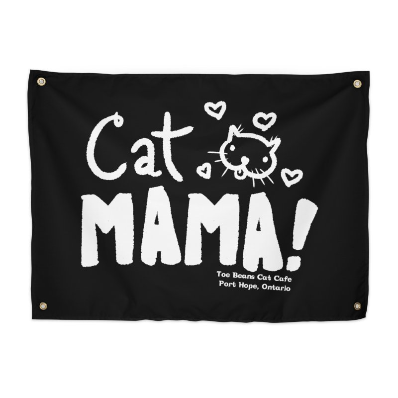 Cat Mama! Home Tapestry by Toe Beans Cat Cafe Online Shop