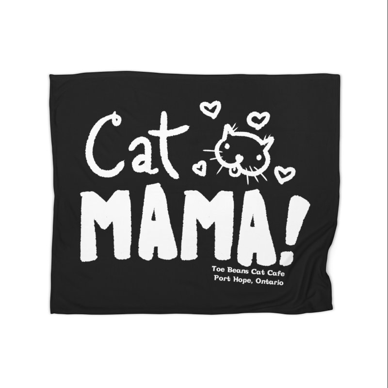 Cat Mama! Home Fleece Blanket Blanket by Toe Beans Cat Cafe Online Shop
