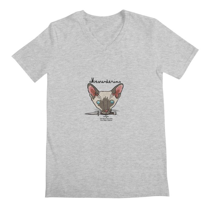 Meowderino - MFM Fan Men's V-Neck by Toe Beans Cat Cafe Online Shop