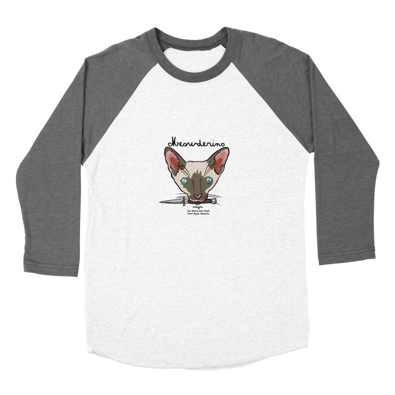 Meowderino - MFM Fan Men's Baseball Triblend Longsleeve T-Shirt by Toe Beans Cat Cafe Online Shop