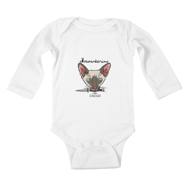 Meowderino - MFM Fan Kids Baby Longsleeve Bodysuit by Toe Beans Cat Cafe Online Shop