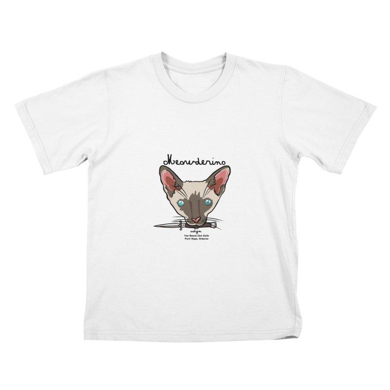 Meowderino - MFM Fan Kids T-Shirt by Toe Beans Cat Cafe Online Shop