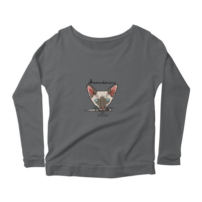 Meowderino - MFM Fan Women's Longsleeve Scoopneck  by Toe Beans Cat Cafe Online Shop