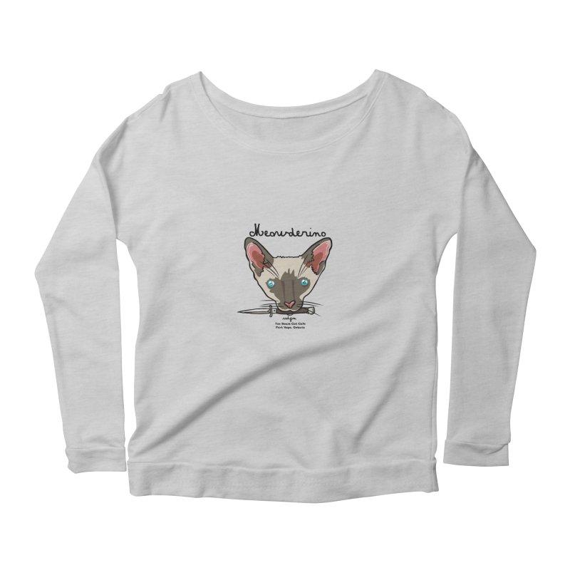 Meowderino - MFM Fan Women's Scoop Neck Longsleeve T-Shirt by Toe Beans Cat Cafe Online Shop